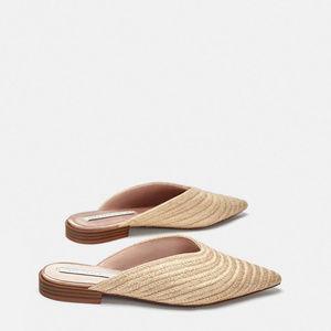 Zara Braided Mules Flats Size 9